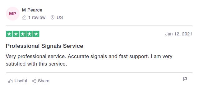 Euro Scalper Pro Review on Trust Pilot: 'Accurate Signals. Professional Service'