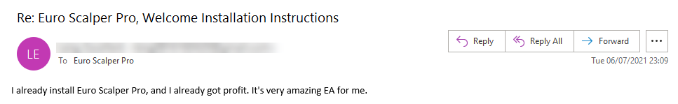 Euro Scalper Pro Review 'Amazing EA' (Click image to enlarge)