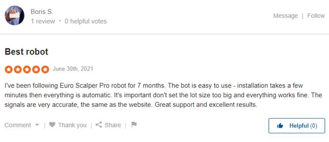 Euro Scalper Pro Review on Sitejabber: 'Best Robot'